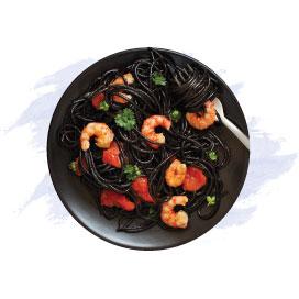 Black Seafood Spaghetti